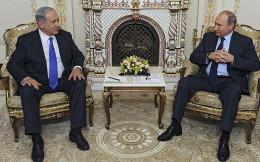 Israeli Prime Minister Benjamin Netanyahu meeting with Russian President Vladimir Putin in Moscow on Sept. 21, 2015.