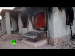 Aftermath of the U.S. destruction of the Doctors Without Borders hospital in Kunduz, Afghanistan. (Graphic credit: RT)