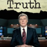 "Robert Redford portraying CBS anchor Dan Rather in the movie ""Truth"" about the destruction of producer Mary Mapes and Rather."