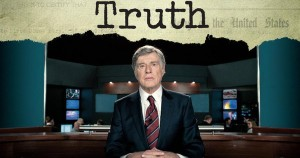 """Robert Redford portraying CBS anchor Dan Rather in the movie """"Truth"""" about the destruction of producer Mary Mapes and Rather."""