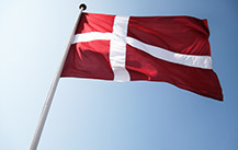 The Danish flag.