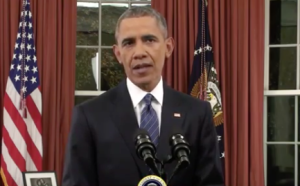 President Barack Obama addresses the nation from the Oval Office about terrorism on Dec. 6, 2015. (Image from Whitehouse.gov)