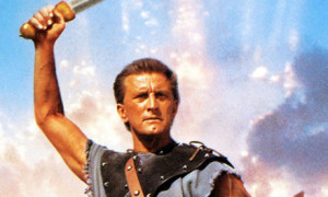 Actor Kirk Douglas as the gladiator-turned-rebel-leader Spartacus.