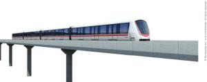 An Innovia light-rail train offered by Bombardier Transportation.