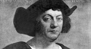 A portrait of Christopher Columbus.