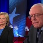 Former Secretary of State Hillary Clinton and Sen. Bernie Sanders. (NBC photo)