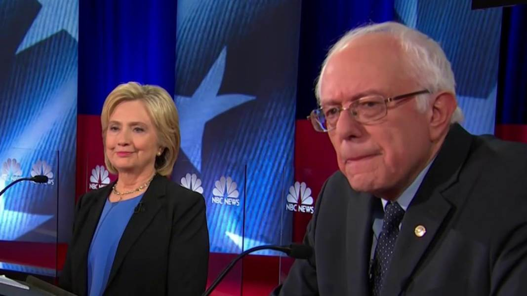 Former Secretary of State Hillary Clinton and Sen. Bernie Sanders. (NBC photo)