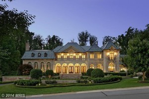 A McMansion in McLean, Virginia, offered for $12.5 million in 2014. [Photo credit: MRIS]
