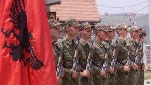 Backed by the United States and NATO in 1999, the Kosovo Liberation Army or KLA was accused of war crimes, ethnic cleansing and organized crime activities. (Photo credit: BBC)