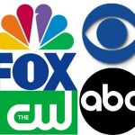 Logos of five of the major broadcast networks in the U.S.