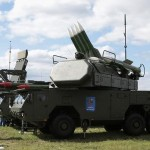 A photograph of a Russian BUK missile system that U.S. Ambassador to Ukraine Geoffrey Pyatt published on Twitter in support of a claim about Russia placing BUK missiles in eastern Ukraine, except that the image appears to be an AP photo taken at an air show near Moscow two years earlier.
