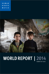 The cover photo of Human Rights Watch's annual report.