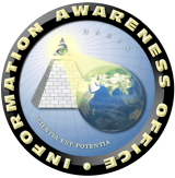 The logo for the Information Awareness Office, which oversaw the Total Information Awareness project. (Photo from Wikipedia)