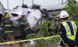 National Transportation Safety Board officials examine site of Amtrak derailment, which occurred on May 12, 2015, in Philadelphia, Pennsylvania. (NTSB photo)