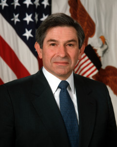 Former Undersecretary of Defense Paul Wolfowitz. (DoD photo by Scott Davis, U.S. Army. Wikipedia)