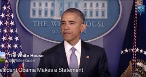 President Barack Obama speaks in the White House press room on April 23, 2015. (Screen shot from WhiteHouse.gov)