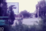 """A screen shot of the roadway where the suspected BUK missile battery supposedly passed after the shoot-down of Malaysia Airlines Flight 17 on July 17, 2014. (Image from Australian """"60 Minutes"""" program)"""