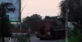 """A screen shot from a video of a suspected BUK missile battery traveling on a road in eastern Ukraine after the July 17, 2014 shoot-down of Malaysia Airlines Flight 17. (As shown in Australia's """"60 Minutes"""" program.)"""