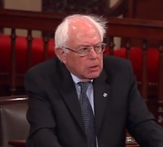 Sen. Bernie Sanders of Vermont, who is seeking the Democratic presidential nomination.