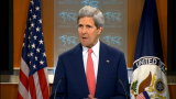 Secretary of State John Kerry speaking about the Ukraine crisis on April 24, 2014. (Screenshot from state.gov)