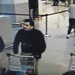 Images of the suspected bombers of Brussels' airport on March 22, 2016.