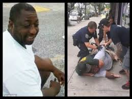 "Eric Garner, suspected of selling ""loose cigarettes"" who died when New York police placed him a chokehold and sat on his chest. (Image from Youtube)"