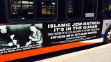 The Islam-hating poster displayed on buses in Philadelphia. (Photo via Forward)