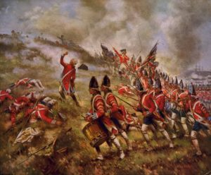 A depiction of the Battle of Bunker Hill by E. Percy Moran.