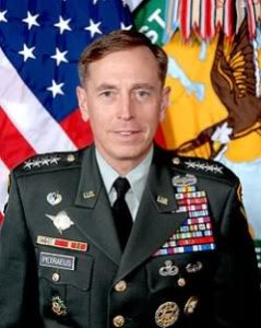 Gen. David Petraeus and his chest full of medals and ribbons.