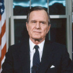 President George H. W. Bush addresses the nation on  Jan. 16,1991, to discuss the launch of Operation Desert Storm.