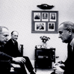 President Lyndon Johnson meets with U.S. Ambassador Marshall Green.