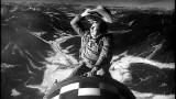"A scene from ""Dr. Strangelove,"" in which the bomber pilot (played by actor Slim Pickens) rides a nuclear bomb to its target in the Soviet Union."