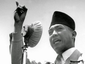 Indonesian President Sukarno.