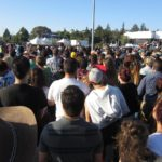 Crowd at Bernie Sanders's rally in Vallejo, California, on May 18, 2016. (Photo credit: Rick Sterling)