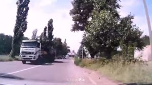 A screenshot of the buk convoy that supposedly downed flight MH-17 traveling eastward from Donetsk on the morning of July 17, 2016.