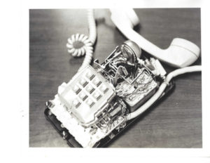 The bugged phone from the Watergate office of Democratic Party official Spencer Oliver.
