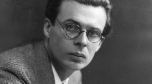 Author Aldous Huxley.