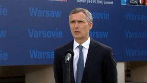 "NATO Secretary General Jens Stoltenberg opens the NATO Warsaw Summit in Poland, July 8, 2016. NATO heads of state agreed to send reinforced, multinational battalions to the eastern part of the alliance's border with Russia. ""These battalions will be robust and multinational,"" Stoltenberg said. (NATO photo)"