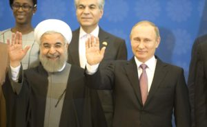 Russian President Vladimir Putin with Iranian President Hassan Rouhani at an energy meeting on Nov. 23, 2015, in Tehran. (Russian government photo)