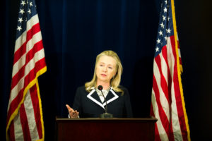 Secretary of State Hillary Clinton at a press conference on Sept. 9, 2012. (State Department photo)