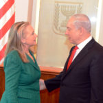 U.S. Secretary of State Hillary Clinton meets with Israeli Prime Minister Benjamin Netanyahu in Jerusalem, Nov. 21, 2012. [State Department photo]