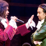 "In the Broadway musical ""Hamilton,"" actor Daveed Diggs (left) who plays Thomas Jefferson and the musical's creator Lin-Manuel Miranda, who plays  Alexander Hamilton."