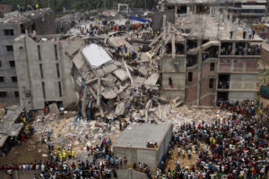 Savar building collapse in  Dhaka, Bangladesh, on April 24, 2013. (Photo via Wikipedia)