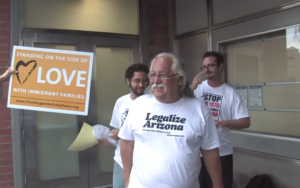 Activist Salvador Reza being released from jail in 2010 after being unlawfully arrested by Sheriff Joe Arpaio. (Screenshot from Youtube)