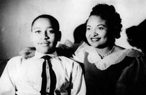 Emmett Till and his mother.