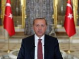 President Recep Tayyip Erdogan delivers a message on the failed coup attempt on July 15, 2016. (Turkish government photo)