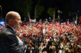 President Recep Tayyip Erdogan addresses citizens in front of his residence in Istanbul on July 19, 2016. (Photo from official website of the Presidency of the Republic of Turkey)