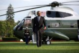 President Barack Obama walks from Marine One upon arrival on the White House South Lawn, July 5, 2016. (Official White House Photo by Lawrence Jackson)
