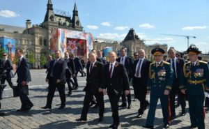 Russian President Vladimir Putin after the military parade on Red Square, May 9, 2016 Moscow. (Photo from: http://en.kremlin.ru)