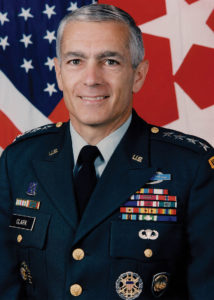 Gen. Wesley Clark, Supreme NATO commander during NATO's bombing campaign against Yugoslavia.